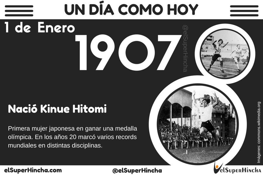 Kinuye Hitomi nació un 1 de Enero