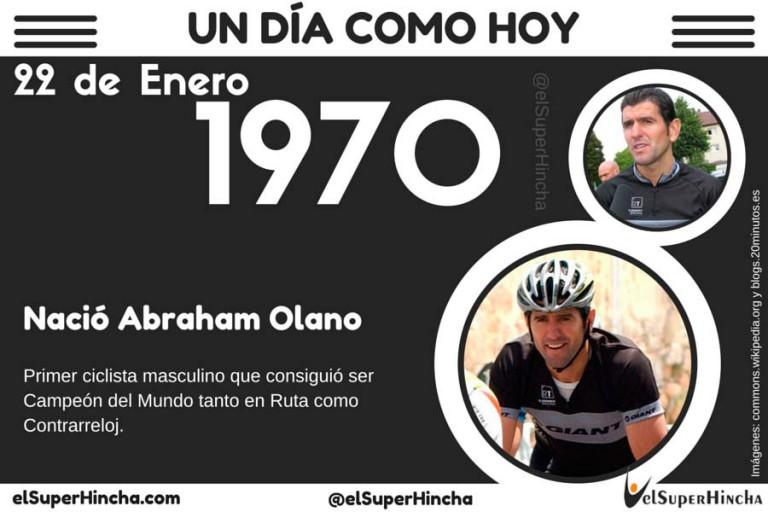 Abraham Olano nació un 2 de Enero