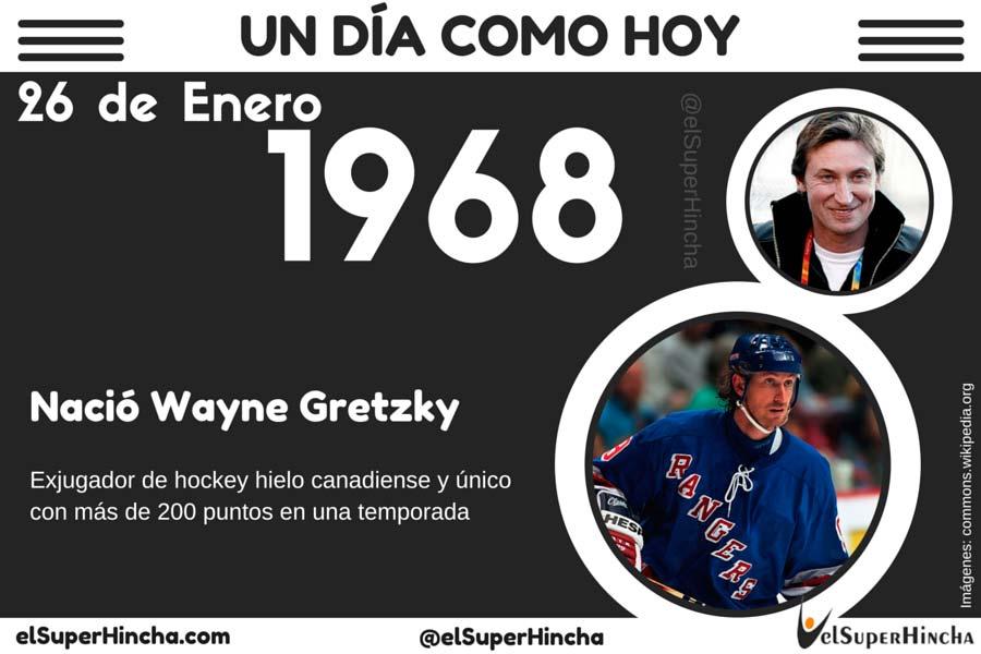 Wayne Gretzky es el único jugador de hockey hielo con más de 200 puntos en una temporada