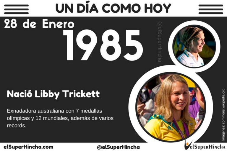 Libby Trickett o Libby Lenton, nació un 28 de enero