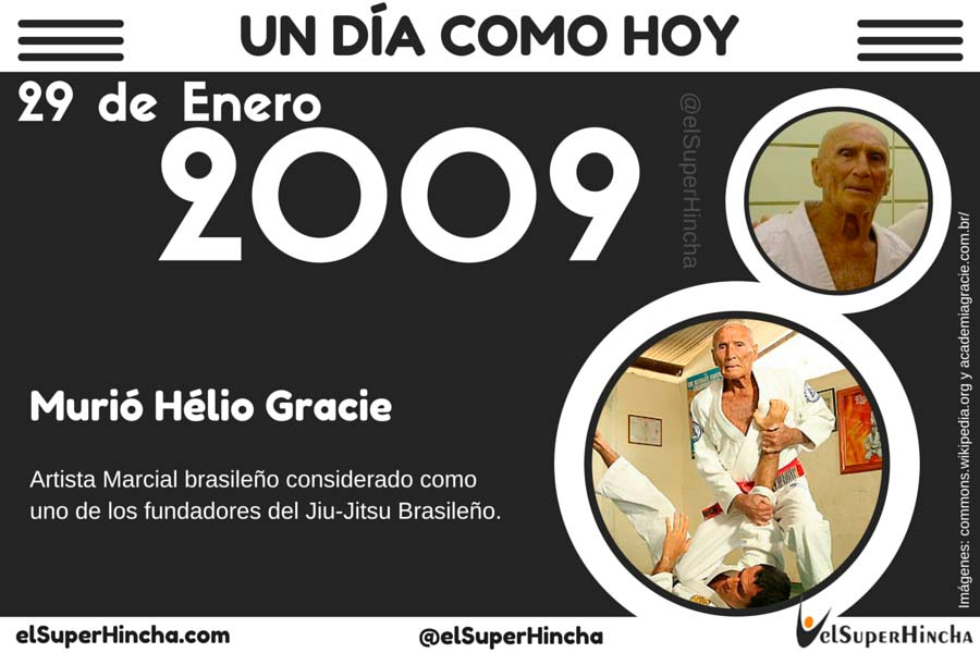 Helio Gracie falleció el 29 de enero de 2009