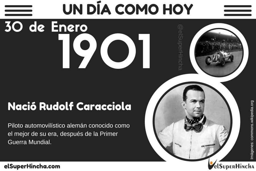 Rudolf Caracciola nació el 30 de enero de 1901