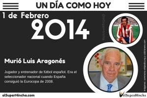 Luis Aragonés murió el 1 de febrero de 2014