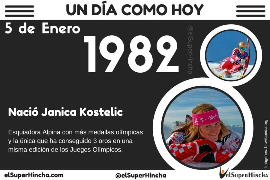 Janica Kostelic, esquiadora alpina con más medallas olímpicas