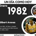 Gilbert Arenas nació un 6 de Enero