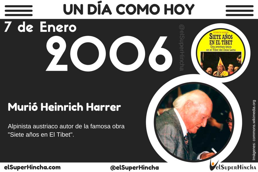 Heinrich Harrer murió el 7 de enero de 2006