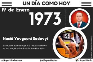 Yevgueni Sadovyi nació el 19 de enero de 1973