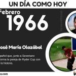 5 de Febrero: Nació José María Olazábal