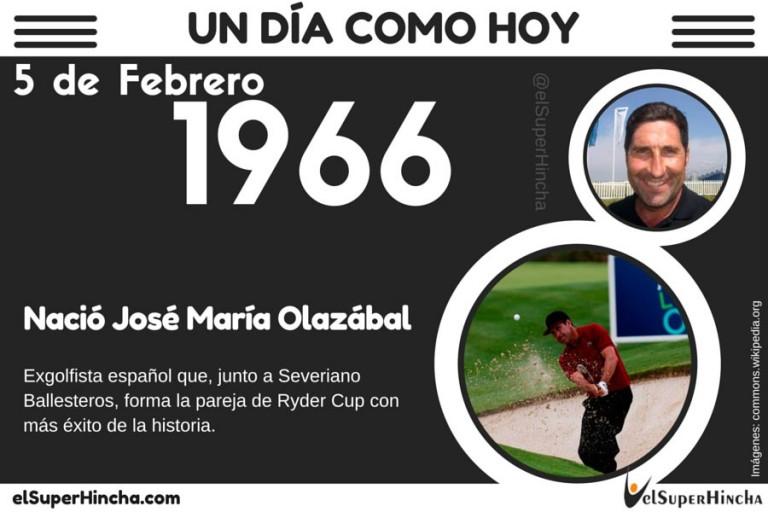 Jose Maria Olazabal nació el 5 de febrero de 1966