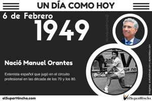 Manuel Orantes nació el 6 de febrero de 1949