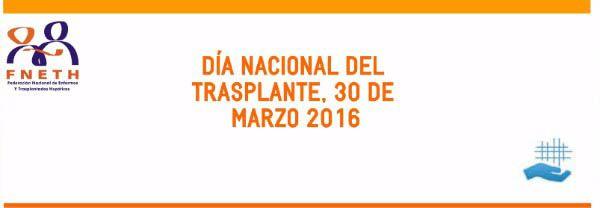 30 de marzo, Día Nacional del Trasplante