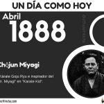 25 de Abril: Nació Chōjun Miyagi