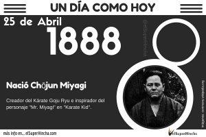Chojun Miyagi fue el creador del Kárate Goju Ryu y el inspirador de Mr Miyagi