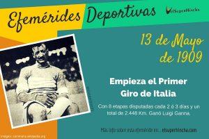 Historia del Giro de Italia: El 13 de mayo de 1909 se inició la primera edición