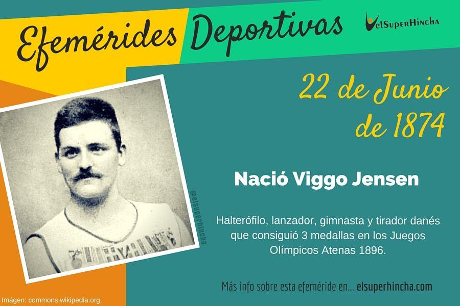 Viggo Jensen fue un polifacético deportista danés que ganó 3 medallas olímpicas en Atenas 1896