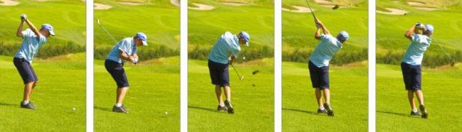 ¿Qué es el swing en golf