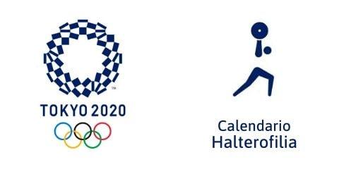 Calendario Halterofilia Tokio 2020