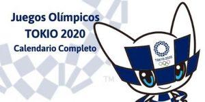Calendario Juegos Olímpico Tokio 2020