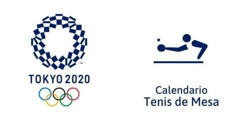Calendario Tenis de Mesa Tokio 2020