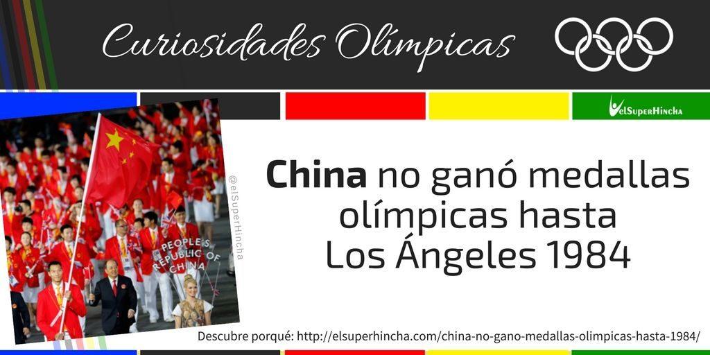 China ganó su primera medalla en unos Juegos Olímpicos en Los Ángeles 1984