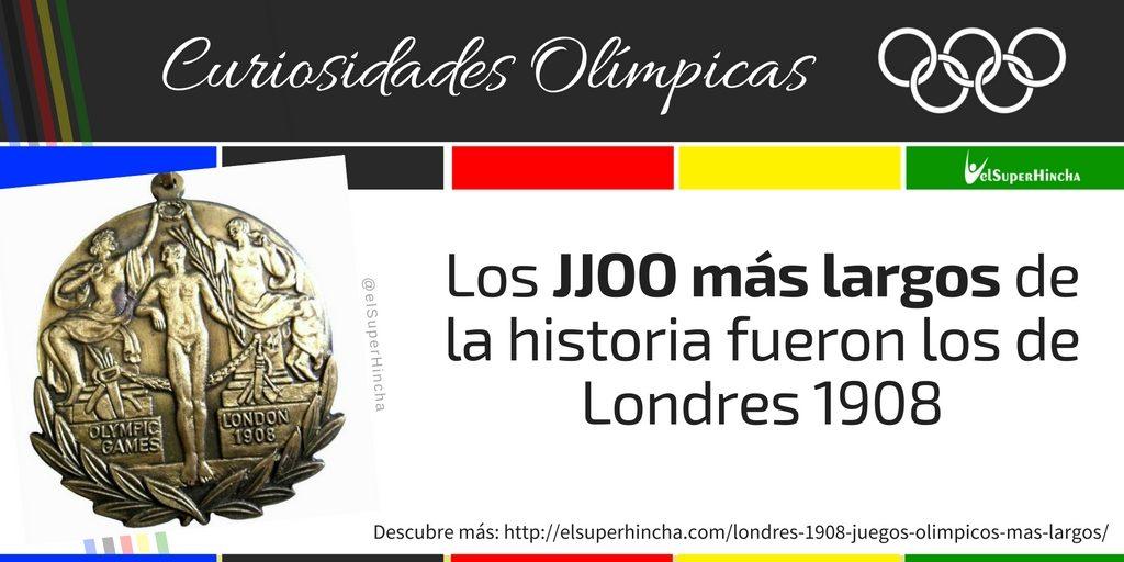 Londres 1908 fueron los Juegos Olímpicos más largos de la historia