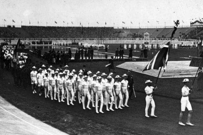 Desfile de atletas en los Juegos Olímpicos más largos de la historias, Londres 1908