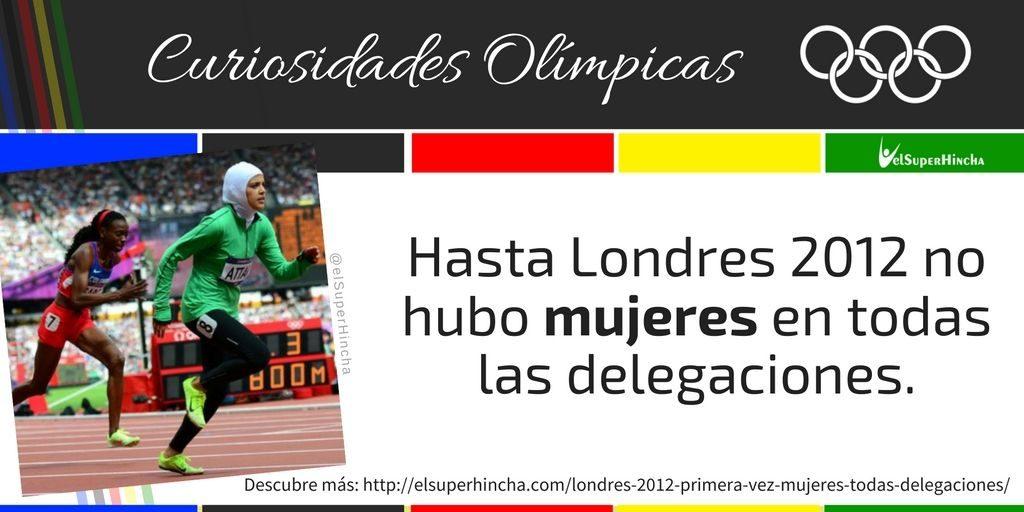 En Londres 2012 fue la primera vez que todos las delegaciones olímpicas incluían mujeres