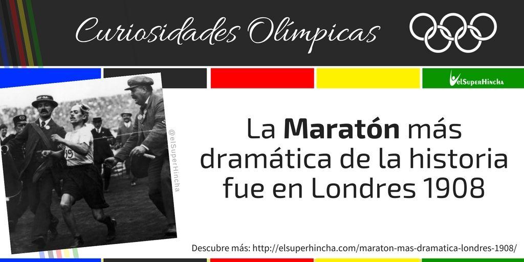 La maratón de los Juegos Olímpicos de Londres 1908 fue la más dramática de la historia