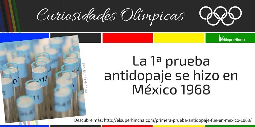 La primera prueba antidopping en unos Juegos Olímpicos se realizó en México 1968