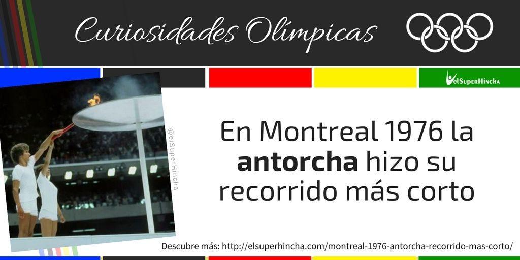 La antorcha olímpica hizo su recorrido más corto en Montreal 1976