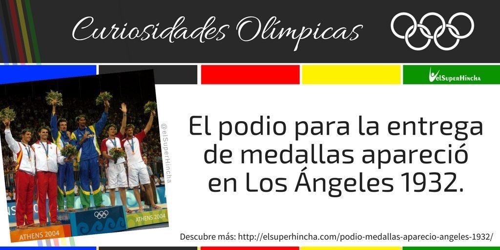 Hasta Los Ángeles 1932 las medallas se repartían en la ceremonia de clausura