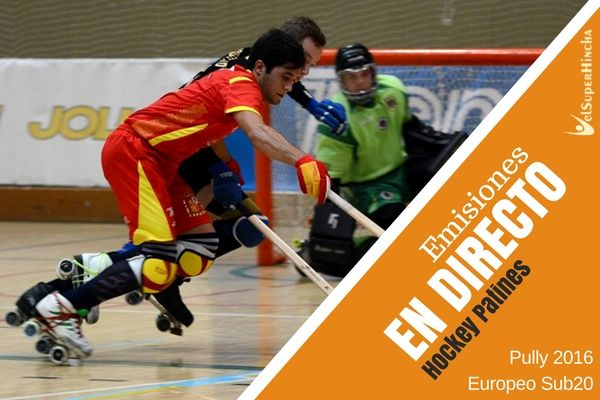 Hockey Patines Sub20 En Directo. Europeo Pully2016