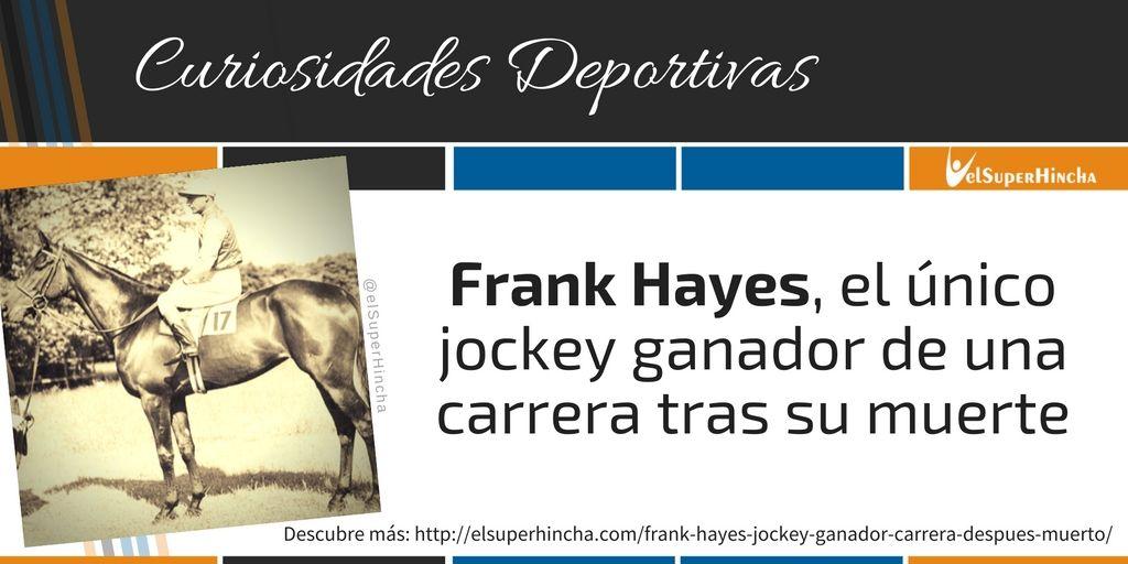 Frank Hayes murió durante la primera carrera que disputó