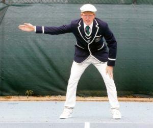 Señales del juez de línea en tenis