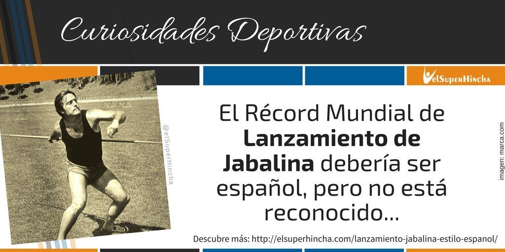 El lanzamiento de jabalina Estilo Español y cómo Miguel de la Quadra salcedo estableció un récord no reconocido
