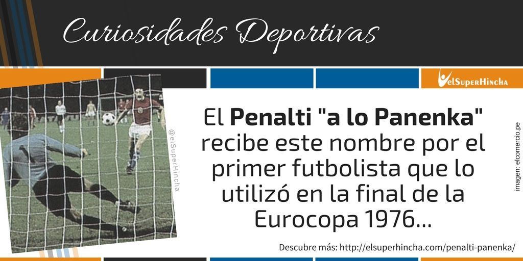 El Penalti a lo Panenka recibe el nombre del futbolista checo Antonín Panenka