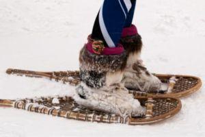 En los Juegos de Invierno del Ártico existen pruebas con Raquetas de Nieve