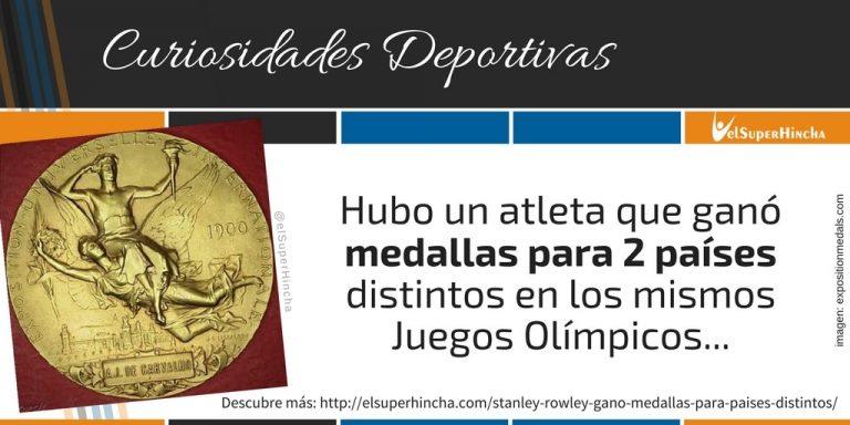 Stan Rowley ganó medallas para 2 países distintos en los mismos Juegos Olímpicos