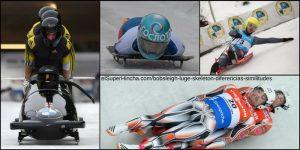 Bobsleigh, Skeleton y Luge. Diferencias entre trineos deportivos