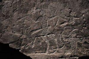 Pinturas rupestres escandinavas que representan el origen del ski archery