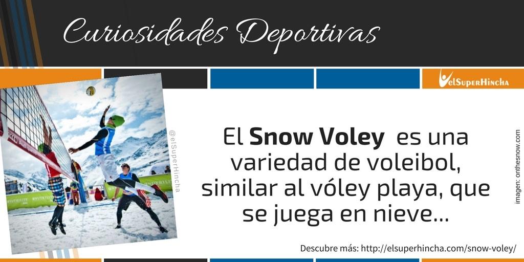 El Snow Voley es una variedad de voleibol, similar al vóley playa, que se juega en la nieve