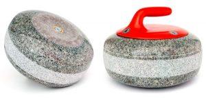 Las piedras de Curling son bloques de granito extraído de sólo 2 canteras