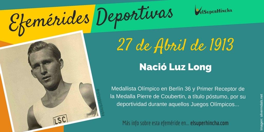 Efeméride del 27 de abril: Nació Luz Long, atleta alemán