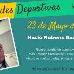 23 de mayo: Nació Rubens Barrichello