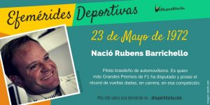 Efeméride del 23 de mayo: Nació Rubens Barrichello, piloto brasileño de automovilismo