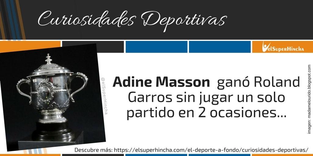 Adine Massón ganó Roland Garros sin jugar ningún partido