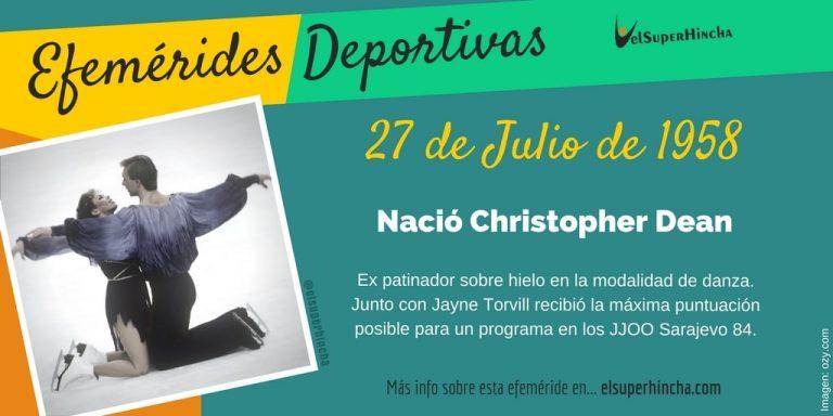 Efemérides del 27 de julio: nació Chris Dean, patinador británico de danza