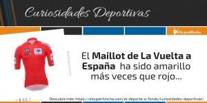 El Maillot de la Vuelta a España ha sido amarillo más veces que rojo