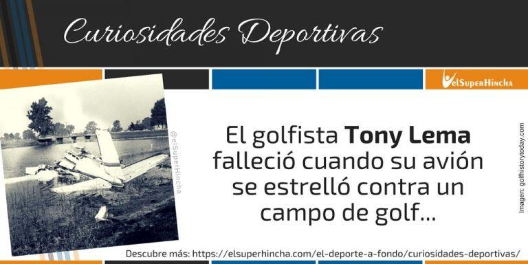 El golfista Tony Lema murió cuando su avión chocó contra un campo de golf