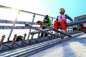 Punto de salida (o puerta) de una rampa de salto de esquí